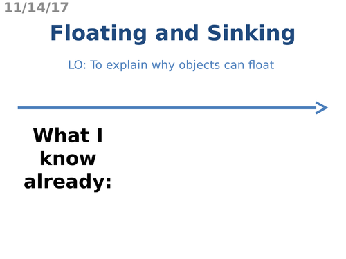 Floating and Sinking (Density)