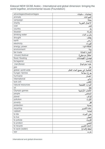 NEW GCSE Arabic