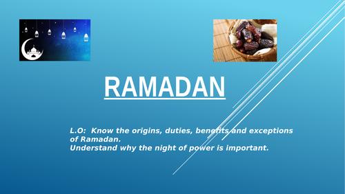 GCSE new spec Re islam Ramadhan lesson