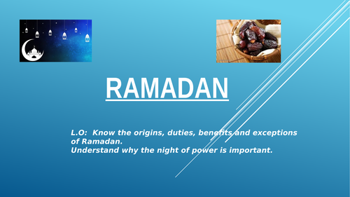 AQA GCSE RE Islam Practises Ramadhan lesson