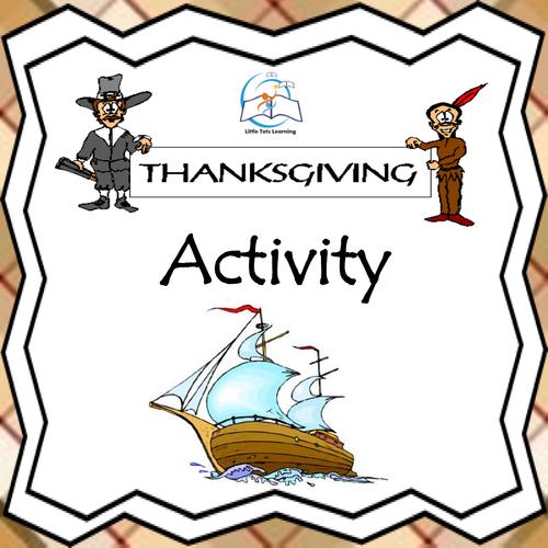 Mayflower Suitcase Thanksgiving Writing Activity