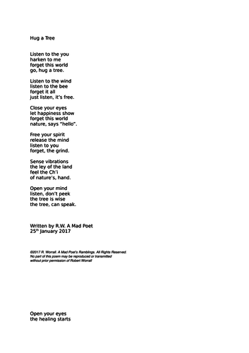 A Philosophical Poem About Nature Teaching Resources