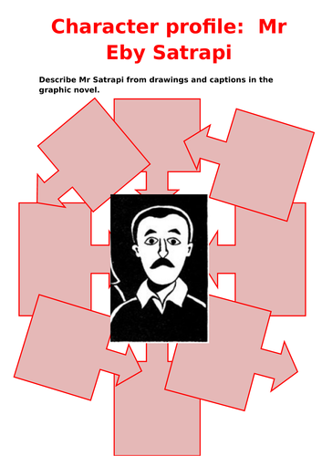 Persepolis Character Profile Mr Ebi Satrapi Teaching Resources