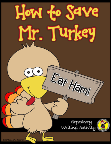 How to Save Mr. Turkey Writing Activity
