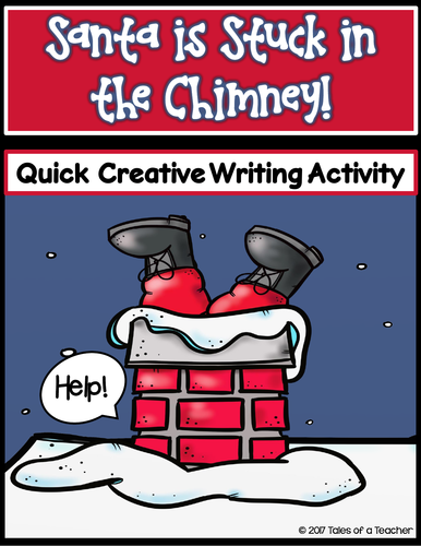 Santa is Stuck in the Chimney! Writing Activity