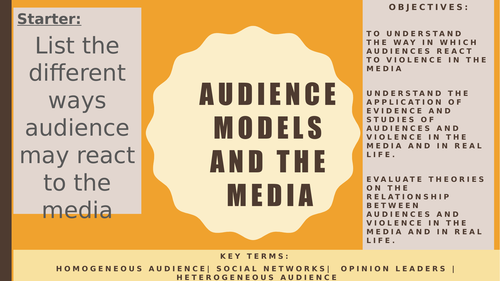 AQA A2 Sociology- Mass Media: The Hypodermic Syringe Model