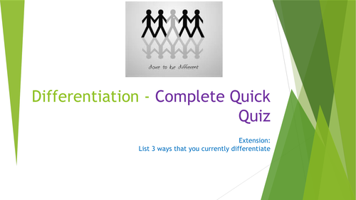Differentiation CPD/Training