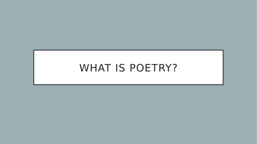 What is poetry? - Shakespeare vs. Hip Hop