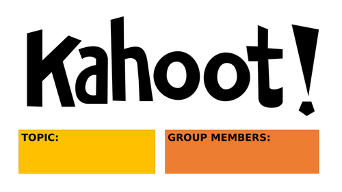 Create a Kahoot group project Printable