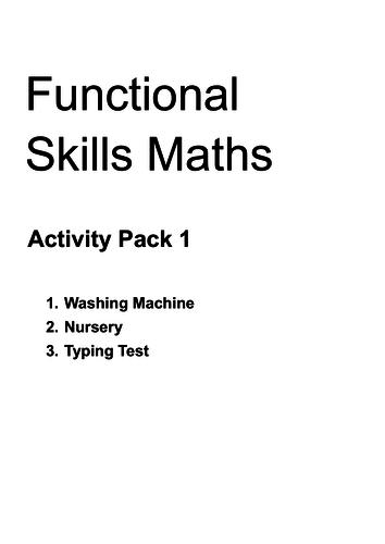 FS Maths L2 - Activity Pack