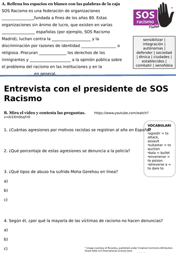 A-Level Spanish: Racism - SOS Racismo / Interview with SOS Racismo president