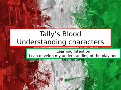 Tally's Blood - Anne Marie Di Mambro Resources