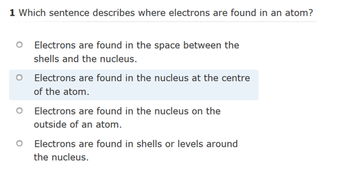Revision quiz for AQA Science Trilogy-Unit C1- Atomic Structure