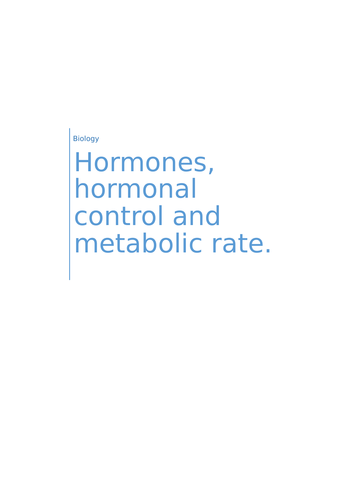 Hormones Work Book