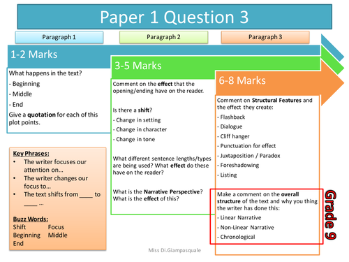 AQA Language Grade 9-1 - Paper 1 - Question 3