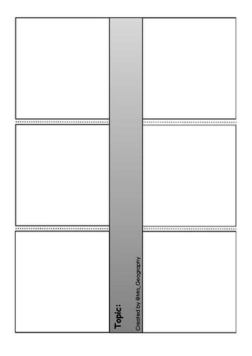 4 x interactive notebook templates