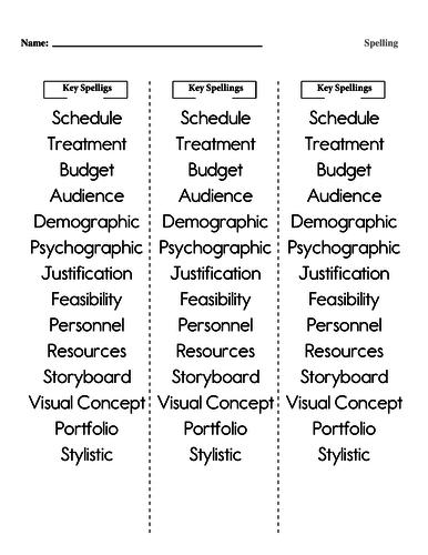 BTEC Media Production Level 2 Entry Tasks