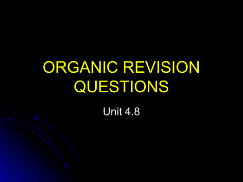 Organic synthesis revision quiz