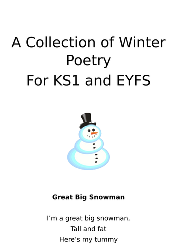 A Collection of Winter Poetry suitable for EYFS and KS1