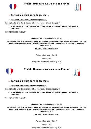 Créer une brochure sur un site en France