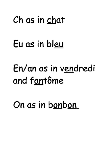 Grade 1 French Immersion Phonetics