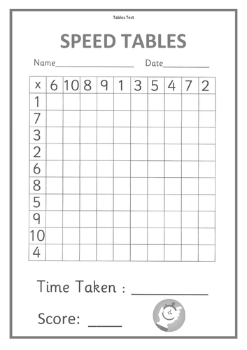 Speed Times Tables