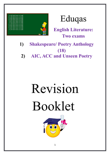 English Literature Revision Booklet Eduqas Macbeth, Poetry, An Inspector, A Christmas Carol