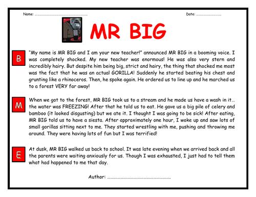 BIG WRITE: MR. BIG!!!!