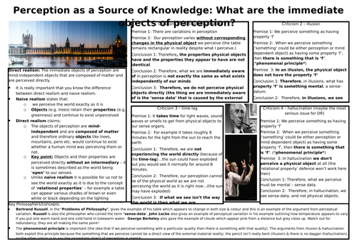 REVISION POSTER - perception as a source of knowledge