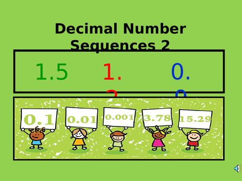 KS2 Missing Decimal Number Sequences 2