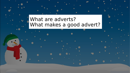 Christmas advertising campaign project