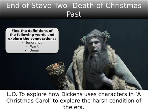A Christmas Carol End of Stave 3: Ignorance and Want