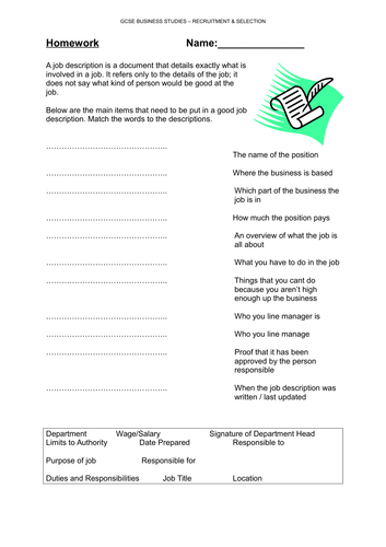 GCSE Recruitment Activity - fully interactive