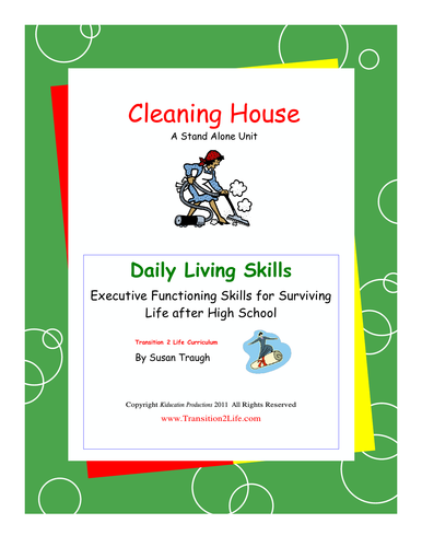 DLS Cleaning House Workbook and Videos - Daily Living Skill