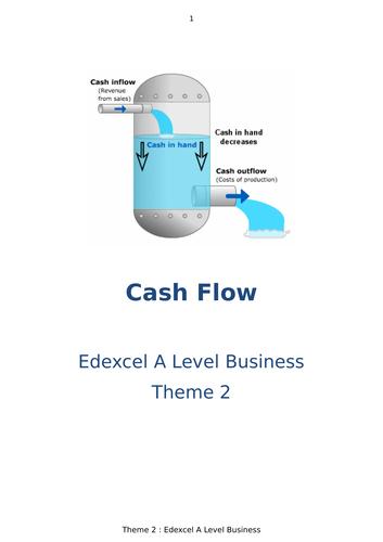 Cash Flow Booklet - A Level & GCSE