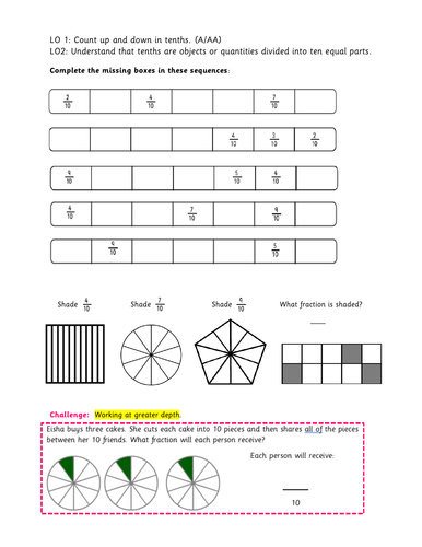 year 3 counting up and down in tenths by busyprimaryteacher247 teaching resources. Black Bedroom Furniture Sets. Home Design Ideas