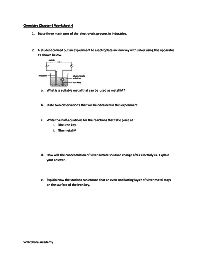 Oxidation Number Worksheet With Answers By Kunletosin246 Teaching