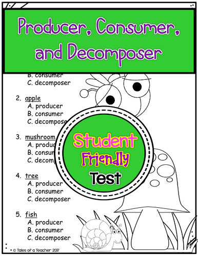 Producer, Consumer, and Decomposer Test