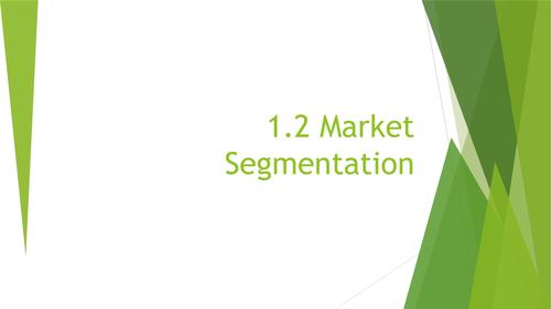 1.2 Market Segmentation