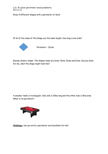 perimeter powerpoint, perimeter and its uses in real life and perimeter  word problems