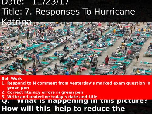 7. Responses To Hurricane Katrina