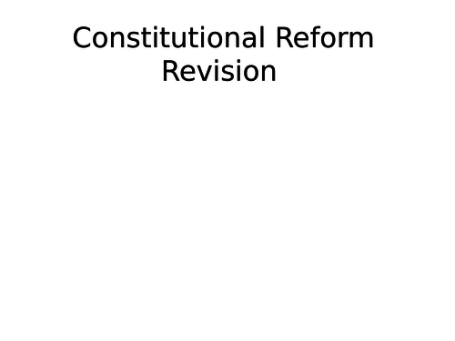 AQA Britain Challenge and transformation: Constitutional reform AS