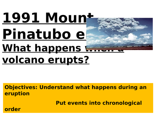 KS3 tectonics - L4 mt. pinatubo - fully resourced