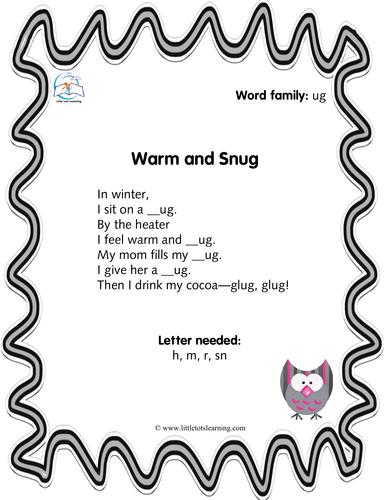 Phonics Poems - Word Families