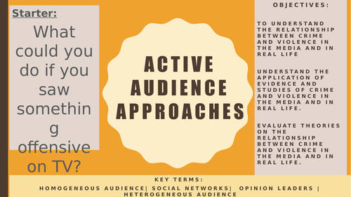AQA A2 Sociology- Mass Media: Active Audience Models (Two-Step Flow, Cultural Effects etc)