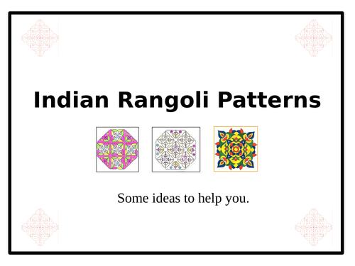 Indian Rangoli Patterns - PowerPoint & 7 Worksheets!!