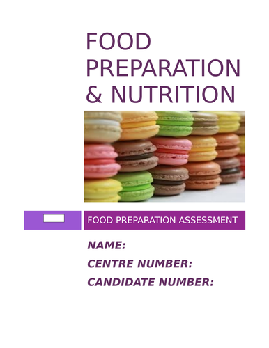 Gcse food preparation and nutrition recipe book by carkyb teaching aqa food preparation nutrition nea2 booklet forumfinder Images