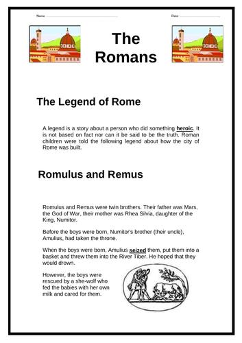 The Romans -  Legend of Rome (Romulus & Remus)