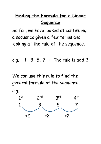 how to find the formula of sequences