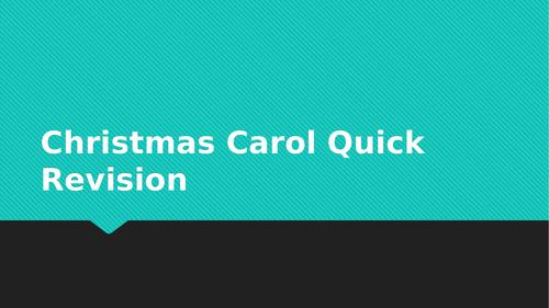 Christmas Carol and Macbeth Quick Revision